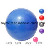 As esferas de ioga desportivas Ginásio Fitness Pilates Bola Fitball Equilíbrio Exercício Exercício de Pilates Massagem Ball 45cm 55cm 65cm 75cm