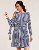 Gestreifte Knoten-konzipiert Minischaltkleider mit Ihren Selbst
