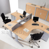 Modern Hot Sale Two Seats Office Computer Table com arquivo de gabinete (SZ-WSL310)