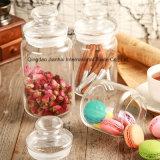 El tanque de almacenaje de la botella de cristal de la Caliente-Venta para el té, caramelo, alimento secado