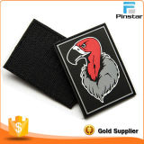 Custom Made Soft PVC Rubber Frog Hook & Loop Patch para vestuário
