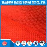 Réseau de sécurité dans la construction de couleur du HDPE +UV+Frorange