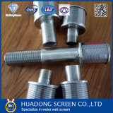Acero inoxidable 304/316 Cepillo de alambre de cuña de agua/filtro de boquilla para el tratamiento de agua