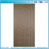 Pelle del portello del compensato/comitato modellati del portello con l'impiallacciatura di legno del teck del PE