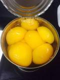 Frutas em conserva as metades de pêssego amarelo 3kg