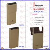 Коробка хранения оптового нового способа декоративная бежевая кожаный (6035R2)