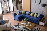 Sofà domestico di Chesterfield della mobilia con cuoio genuino