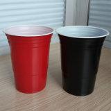 Copo plástico vermelho descartável quente do partido das vendas 16oz picosegundo
