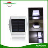Da luz solar da cerca de 4 diodos emissores de luz a parede solar ilumina a luz ao ar livre das escadas das luzes
