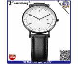 Yxl-762 숙녀 상단 최신 형식 가죽끈 시계, 스테인리스 Caseback 시계