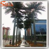 庭の装飾のファイバーガラスの人工的なココヤシの木の木