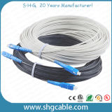 Câble fibre optique FTTH FTTH de 1 à 12 fibres de haute qualité (FTTH-AM-XC)