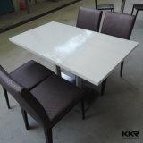 熱い販売の食堂の家具、固体表面のダイニングテーブル