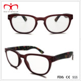 Señoras Plastic Reading Glasses con Flower Paper Transfer (WRP507259)