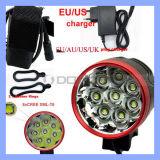 Pilha recarregável 18650 12000LM 8.xml CREE LED T6 Luz de Bicicletas