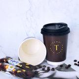 устранимый горячий бумажный стаканчик кофеего питья 8oz/12oz/16oz с крышкой и втулкой