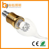 3W E14 E27 Ce RoHS Approved Dimmable LED Candle Bulb Light for Chandelier