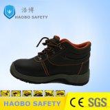 PU/PU подошва рабочие ботинки обувь с стальную пластину