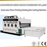 Máquina de entalho e cortando da Semi-Auto impressão da caixa de 2 cores