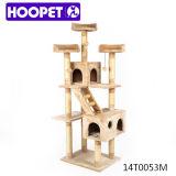 Árbol feliz barato del gato del animal doméstico, muebles fuertes y grandes del gato del tamaño