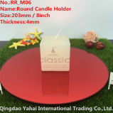 5mm Medium Round Red Glass Candle Holder