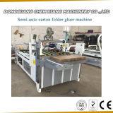 Tecla Semi-Auto Gluer Pasta Caixa de cartão