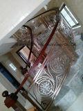 Balaustra di lusso interna della parentesi del corrimano della scala del rame e dell'alluminio