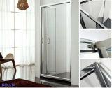 6mmのBi-FoldガラスシャワーのドアのFoldbleのガラスシャワーのドア機構の緩和されたガラスのキュービクル