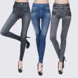 Женщин бесшовный плоский Jeggings джинсы Leggings печатной платы