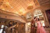 """Розовый Meraid Блэк Сэш"""" рельефная свадебное платья Eveing устраивающих платье (TJBLCT010)"""