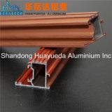 Perfil de alumínio revestido do pó de madeira de alumínio de madeira da grão da porta Frame/OEM
