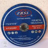 금속 절단 디스크, 커트오프 바퀴, 강철을%s 절단 바퀴