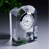 يصنع ساعة بديعة زجاجيّة بلّوريّة كرة أرضيّة ساعة