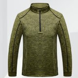 Langer Hülsen-Sport-Hemd-Gymnastik-Sport, der trockenes Sitz-T-Shirt ausbildet