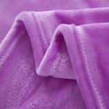 Do poliéster super do delicado da alta qualidade cobertor 100% liso de venda quente da flanela da cor