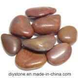 Pedra de cascalho polido vermelho de Nanjing para decoração