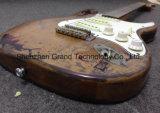 Guitarra elétrica envelhecida St da relíquia da assinatura com corpo do amieiro (GF-48)