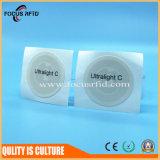 접착성 서류상 물자 RFID 꼬리표는 프로토콜 ISO18092 NFC 따른다