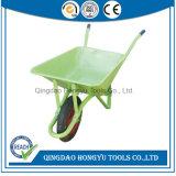 Aço Construção Chinês Wheelbarrow 58L bandeja metálica Barrow WB22A RODA