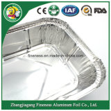 8g 3003 Disposable Aluminum Lunch Tray per Fast Food Packing Takeaway