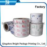 Las toallitas húmedas del papel de embalaje