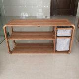 Recycler le repose-pieds en bambou avec un tiroir en tissu