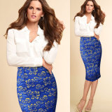 Dame-Büro-Kleid Bodycon Fußleisten-Bleistift-Büro-Fußleiste