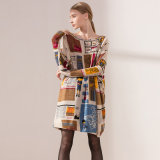 새로운 가득 차있는 인쇄 EU 작풍 스웨터 중국 제조자에 의하여 뜨개질을 한 스웨터는 여자의 싸게 도착한다