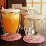 Doble pared de la resistencia de calor y frío taza de café de la botella de cristal