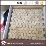 Het hexagonale Witte Mozaïek van de Steen van Bianco Carrara Marmeren voor Zwembad/Badkamers