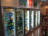 De commerciële Koeler van de Vertoning van Glas Twee Deur Gekoelde voor Dranken