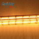 Doppelgefäß-Infrarotheizung-Lampe mit Goldreflektor