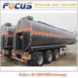 腐食性の液体のための半3車軸33000Lカーボンステンレス鋼タンクトレーラー