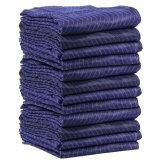 """12 coperte mobili di PRO economia (45 libbre/dozzina pesi) 72 """" azzurro ed il nero di blu marino di X 80 """""""